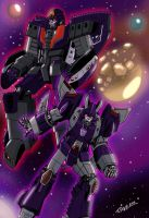 Cyclonus and Astrotrain by DStevensArt
