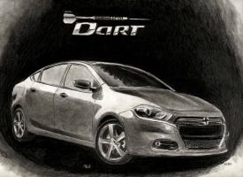 Dodge Dart 2013 Sketch by artmkc