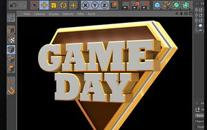 Game Day Cinema 4D 3D Text File by loswl