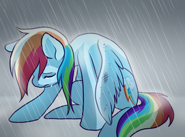 Pony - Broken-Wing Rainbow Dash by Pixel-Prism