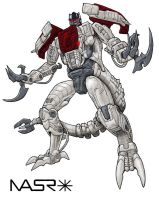 Transmetal 2 Dinobot Colored by doom-bees