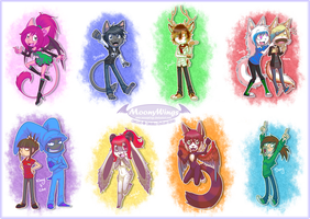~ Chibi Badges ~ by MoonyWings
