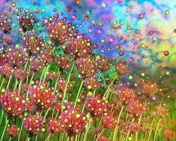 Balloon Flowers by rabbitica