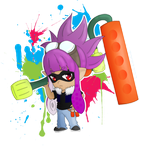 [chibi] Inkling Girl by CaptainPandaa