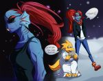 Undertale- Alphys and Undyne by ToastieMan