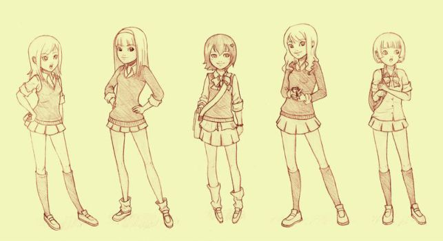 High School Girls by WhipsmartMcCoy