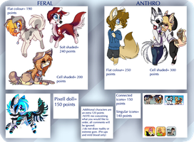 Commission price chart by kxng