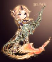 Elf Yul Archer.Lineage 2 by fantazyme