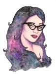 Retro cosmic girl by stardixa