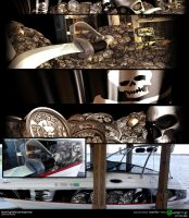 Diesel Dog Mafia boat wrap for Shaquille O'Neal by starr2099