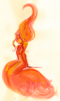 flame princess by papier-crane