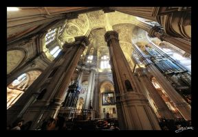 Interior de la Catedral de Malaga II by JuanChaves