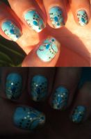 Princess Jasmine inspired nail art by amanda04