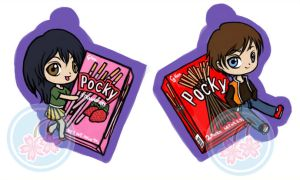 Pocky Keychains by SakuraCherrie