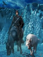 Jon Snow and Ghost by BlackWolf-Studio