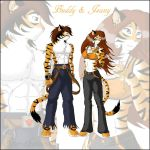 Tigers Buddy and Jeany by spiritkitsune-dr