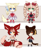 Adoptables Auction 5 (CLOSED) by Aaeruu