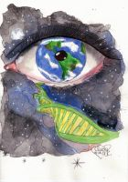 The world in her eye by Cindy-R