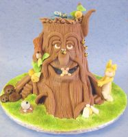 Enchanted Tree Cake by ginas-cakes