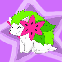 shaymin colored by BlazingLillyArtz