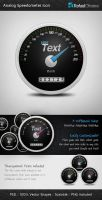 Analog Speedometer Icon by Rafael-Olivra