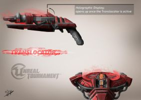 Unreal Tournament - Translocator Concept Art2 Red by Sly-Mk3