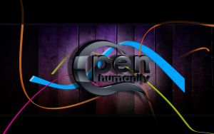 Open Humanity, prototype logo by sharkurban