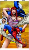 Spiderman + Mary Jane by Doubtful-Della