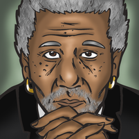 Morgan Freeman by indecisivepancake