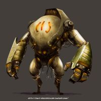 Robot - Digital Painting Test by davi-escorsin