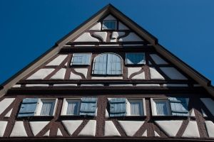 Blue-on-Brown Half-timbered by DeviantTeddine