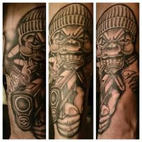 chicano sleeve in progress by zok4life