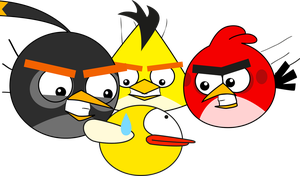 Random Drawing : Angry Birds VS. Flappy Bird by TBalazs2000