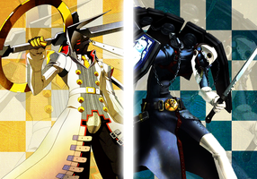Persona : Izanagi and Thanatos by Lewnett