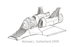Spaceship sketch 30MAY09 by SudsySutherland