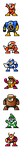"MegaMan ""Sprites""-Bosses of 2 by WaneBlade"