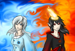 Fire and Ice by LivingAliveCreator