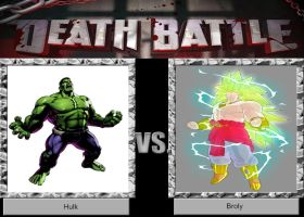 DEATH BATTLE Request Hulk VS Broly by JefimusPrime