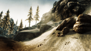 Screeenshot: TES5 Skyrim: Up on the Mountains by bakaprincess85