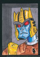 Beast Wars Dinobot sketch card by PlummyPress