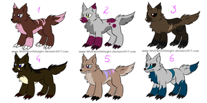 .:[ADOPTABLES]WOLF-CREATURE-ADOPTABLES:. by Maniactheleader