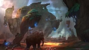 Dino Hunter Deadly Shores Environment Concept by lawvalamp