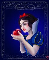 Snow White coloring book page by AzureStrawberry