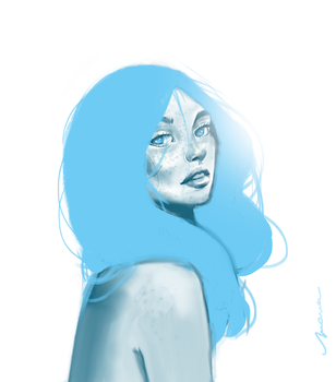 Blue Lady by mariapasqualino