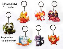 keychains for sale by michellescribbles