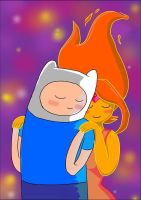 finn and princess flame by lorelee