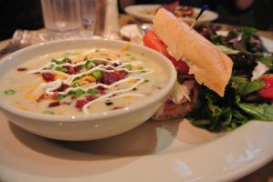 Cheesecake Factory - Lunch Soup and Sandwich combo by Shinseigo-Takashi