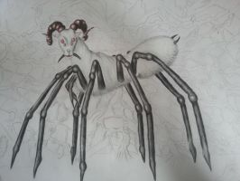 Spidergoat-unfinished by Devicorn
