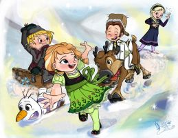 OUR KIDDY SNOWY GAME by meow-meow211298