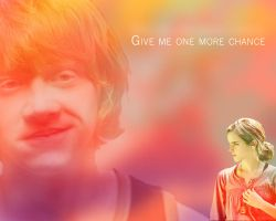 Wallpaper: Ron and Hermione II by Ditalion